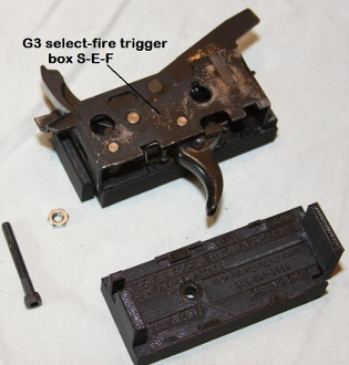 H & K modification jig for SEF box to convert semi receivers